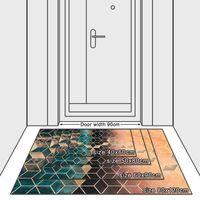Moda Nórdico Sombreado gradual Verde DIAMANTES DE Dorado Puerta de impresión / Matera de cocina Sala de estar Dormitorio Sala de sala Área de alfombra Decoración Alfombra 695 K2