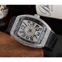 2021 Außenhandel Herren Quarz 3-Pin Voll Diamond Lifa FM Uhr