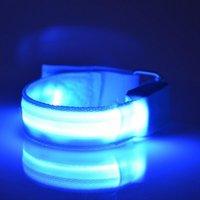 Локоть коленные колодки открытый светящийся спорт светодиодный браслет светодиодный ночной бегущий рук ремни безопасности предупреждающий свет