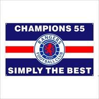 KOSTENLOSER DHL Versand Kundengebundene Flagge 3X5FT / 90x150cm Ranger Fußballverein FC Loyal Champions 55 Flaggen Banner für den Außensport Ahd5394
