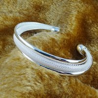 Bangle TB-38 Explosive Style Korean Jewelry Silver-plated Beveled Edge Bracelet Ladies Gifts
