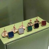 Mode Ohrringe Klee Edelstahl Ohrring Einfaches Design Für Frau Classic 5 Farbe Hohe Qualität mit Box