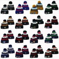 Wintermarke Ball Caps Pom Sport Eishockey Buchstabe S Cuffed Skull Cap für Männer Frauen Hut des Erwachsenen Hut Strickmütze Hüte Dicke Skullies Bohne