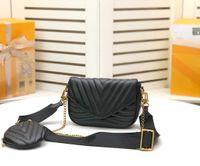 2021 عالية كوليتي قطعتين الكلاسيكية فلازياء مصممي أكياس المرأة حقائب السيدات مركب حمل بو الجلود مخلب حقيبة الكتف حقيبة محفظة
