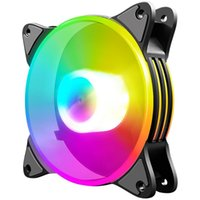 Fans & Coolings Computer Accessories Fan Cooling Desktop Case LED PC Controller 12cm Mute Adjustable Quiet Light RGB Silent Chassis Radiator