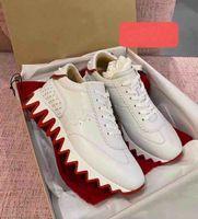 Mükemmel Kırmızı Alt Sneakers Buzağı Deri Loubi-Shark Açık Spor Çift Parti Elbise Rahat Ayakkabılar Erkekler için, Kadınlar En İyi Güzel Yürüyüş