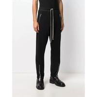 M-XXL Noir Couleur Multi Pocket Pantalons de cargaison Hommes Femmes Unisexe Mode Joggers Cordon Santé Pantalon