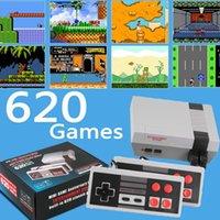 مصغرة تلفزيون لعبة وحدة التحكم 8 بت الرجعية ألعاب الفيديو 620 ألعاب مع مراقبات مزدوجة لعبة محمولة لاعب
