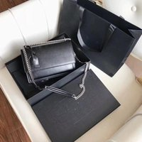 Cosmetic Bags & Cases Fashion Luxury Leather Chain Design Female Bag Retro Messenger Handbags Shoulder For Women Without Box