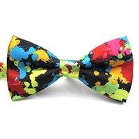 Arco legami Festival di nozze Accessori Affascinante Butterfly Stampa regolabile Banchetti colorati Groom Party Men Tie