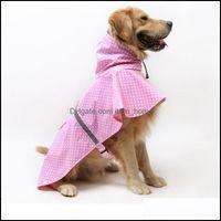 개 애완 동물 용품 홈 Gardendog 의류 비옷 래브라도 황금 대형 및 중간 크기의 반사 방수 스노우 방지 큰 옷 # 25 D