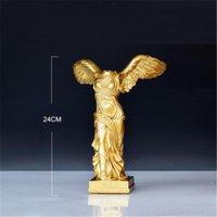 Decorativos Objetos Figurinhas Antiga Vitória Grega Goddess Statue Resina Ornamentos Personagem Escultura Artesanato Home Office Desktop Decoratio