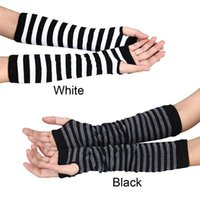 Five fingers gloves mitten cycling Women Winter Strained wrist Arm hand Warmer Used long fingerless Middle arm warmers In stock Dropshipping Wholesale 0910