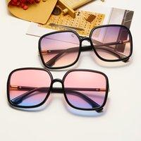 النظارات الشمسية 2021 أزياء الأطفال المعتاد نظارات الشمس للبنات مربع التدرج الاطفال محبة نظارات الوردي النظارات الإطار uv400