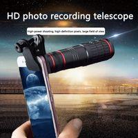 Clipe universal 20x zoom óptico telescópio hd 20x longa lente de câmera de telefone portátil lente externa na caixa de varejo
