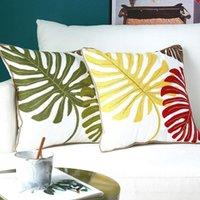 Американский стиль сельской местности подушки гостиной ручной работы вышивка чехлы для вышивки чехлы диван бросок подушка дома украшения аксессуары