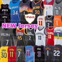 Phoenix Suns Brooklyn Nets Golden State Warriors Devin 1 Booker Jersey Chris 3 Paul Trae 11 Jovem Kevin 7 Durant Antetokounmpo Basquete Deandre Giannis Ayton Curry Harden Irving