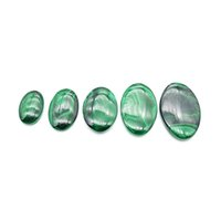 Natural Malachite Oval Pendant Quartz Crystal Necklace Reiki Healing Crystal Stone Ornament Charm Woman Jewelry Gift