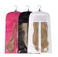 Capelli estensioni Borsa di stoccaggio con attaccapanzi per parrucchieri Holder Holder parrucche per stile di trasporto