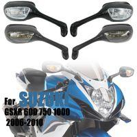 for Suzuki GSXR 600 750 1000 GSXR600 GSXR 750 2006-2010 K6 K7 K8 Motorcycle Rearview Mirrors LED Turn Signal Light Accessories