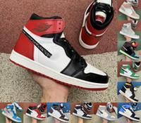 Jumpman 1 1s High Og Light Smoke Graue Twist Basketballschuhe verboten Satin Snake Chicago Toe Tokyo Bio Black Herren Trainer Sport Turnschuhe