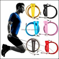 Ropes Equipments Supplies Sports & Outdoors Steel Jump Skip Jum Speed Fitness Rope Cross Fit Mma Boxing Wholesale Drop Delivery 2021 Qfs1N