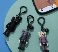 KAWS Bebek Tasarımcısı Anahtarlık Anahtarlık Moda Sesam Sokak Aksesuarları PVC Aksiyon Figürleri Oyuncaklar Çanta Charms Araba Anahtarlıklar Tutucu