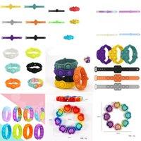 Zappeln Stress Spielzeug 9 verschiedene Arten von Armbändern Push Blase Antistress Erwachsene Kinder Sensorische Geschenkspielzeug, um Autismus zu lindern