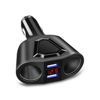 3.1A 120W Dual USB Car Charger with Voltage Display Cigarette Lighter in a car Universal 12V-24V Socket Splitter Power Adapter Car
