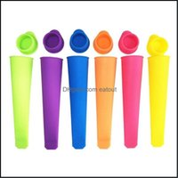 Kitchen Tools Kitchen, Dining Bar Home & Garden Colorf Sile Mold Popsicles Mod With Lid Diy Makers Push Up Ice Cream Jelly Lolly Pop For Pop