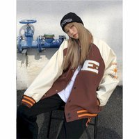 Women's Jackets Woman Bomber Jacket Embroidery Men's Coat Harajuku Baseball Autumn Unisex Oversized Hiphop Varsity Jackes Streetwear