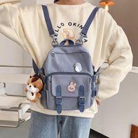 School Bags Fashion Mini Backpack Women Kawaii Shoulder Bag For Teenage Girls Multi-Function Small Bagpack Ladies Travle Backpacks