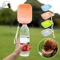 Botella de agua de viaje de perro Tazón de fuente portátil Potenciante Alimentador de agua para perros para perros Gato Atención al aire libre Botella Botella Suministros para mascotas
