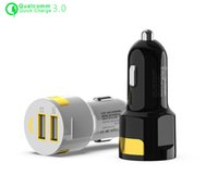 M-70 car charger Dual USB 2.1A +QC3.0 quick charge Luminous chargers fast charging adapter for mobile phone tablet PC
