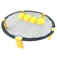 Bolas de tênis de mesa Mini Beach Volleyball Spike Ball Game Set Outdoor Team Sports Spikeball Lawn Fitness Equipment Net
