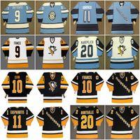 Pittsburgh Penguins Hóquei Jersey 9 Andy Bathgate 1970 Francis Quinn Kasparitis Ubriaco Errey Caufield Schock Sandstrom PronoVost Macleish Robitaille
