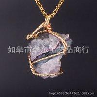 & Pendants Jewelrynatural Crystal Quartz Healing Point Chakra Bead Gemstone Necklaces Women Men Pendant Original Stone Style Jewelry Drop De