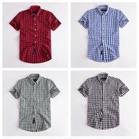 Kurzarm-Hemd des Herren-Hemdes-Plaid-Hemden Sommer Freizeit-Mode-Straße lose schöne vielseitige asiatische größe