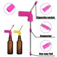 Drinking Beer Straws Multi-functional Straws silicon Filter Tips Hookahs 8mm Cigarette Portable Screw-on lid Smoking Pipes 5 Colors