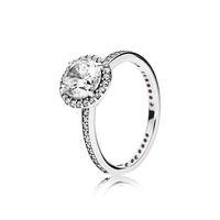 Echt 925 Sterling Silber CZ Diamant Ring mit Original Box Set Fit Pandora Stil Ehering Engagement Schmuck Für Frauen Mädchen