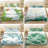 Bedding Sets Nordic Style Leaf-Print Set Fashion Children Adult Bedroom Decorative Down Quilt Cover Pillowcase Multi-Size