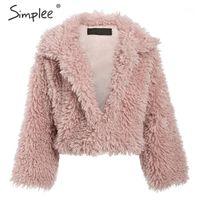 Simple casual manga larga cálida sueltos abrigos mujeres 2019 otoño invierno femenino fake fake abrigo señoras elegante solapa sólida Outwear1
