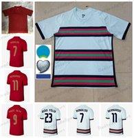 2021 유로 컵 축구 유니폼 National Team 2021-2022 7 Cristiano Ronaldo Jerseys 23 Joao Felix 9 Andre Silva 10 Bernardo 11 Fernandes William Football Shirt Kits