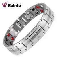 Rainso Fashion Bijoux Coiffeur Sapin Magnétique Titanium Bio Energy Bracelet pour hommes Brocelets de pression artérielle Bracelets 2021