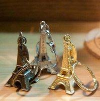 Torre Eiffel Llavero Estampado Paris Francia Torre Colgante Llavero Llavero Regalos Moda Oro Sliver Bronce PS0850