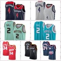 2021 homens vintage retrô basquete jersey bola 2 lamelo westbrook 4 russell camiseta edwards anthony garnett kevin respirável azul azul tamanho s-2xl