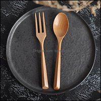 Other Kitchen, Dining Bar Home & Gardennatural Wooden Spoon Fork Creative Triangle Handmade Environmental Protective Dinnerware Drop Deliver