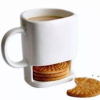 Neue Keramikbecher Weiße Kaffee Milch Kekse Dessert 250ml Tasse Teetasse KKA3109 Cookie Home Seite Für Taschen Büro Tee Halter EWA5343