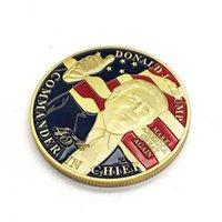 50PCS دونالد ترامب الرئيس الحرف التاريخي مطلية بالذهب النادرة عملات ميداليونات الولايات المتحدة الأمريكية مجموعة شارة جمع