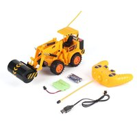 2021 new 5CH Remote Control Stunt RC Construction Excavator Simulation Tractors Electric Engineering Vehicles Gift Toy for Kids